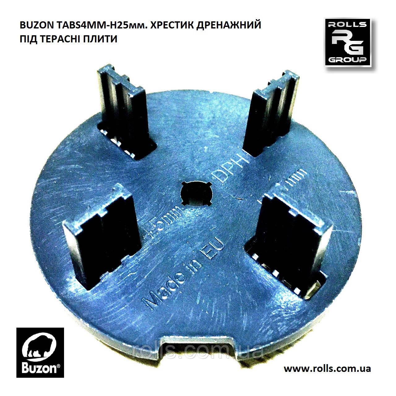 TABS4MM-H25 Крестик с разделительными пластинами для гранитных плит терраса на опорах Buzon DPH-TABS-4,5-H25