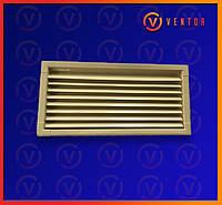 Вентиляционная металлическая решетка 200х440 мм, бежевая., фото 1