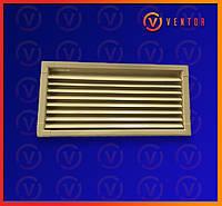 Вентиляционная металлическая решетка 220х440 мм, бежевая., фото 1
