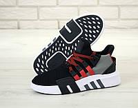 Мужские кроссовки Adidas EQT черные с красным, фото 1