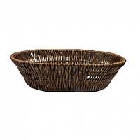 Корзина плетеная овальная для хлеба 28х20х7см (арт. 7317)