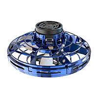 Літаючий спінер FLYNOVA Flying Fidget Spinner іграшка-антистрес з підсвіткою LED Синій (SUN6435)