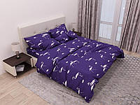 Комплект постельного белья евро ранфорс 100% хлопок. Постільна білизна. (арт.13484)