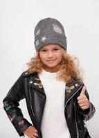 Стильная шапка для девочки Гретта