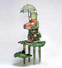 """Фигурка из фарфора """"Мадам-лягушка на троне"""" Pavone"""