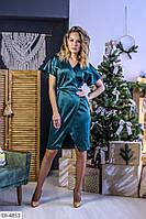 Атласное платье, фото 1