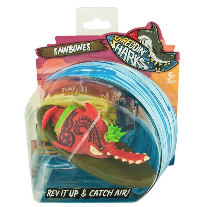 Игровой набор Фингерборд с фигуркой Shreddin' Sharks SAWBONES 561996