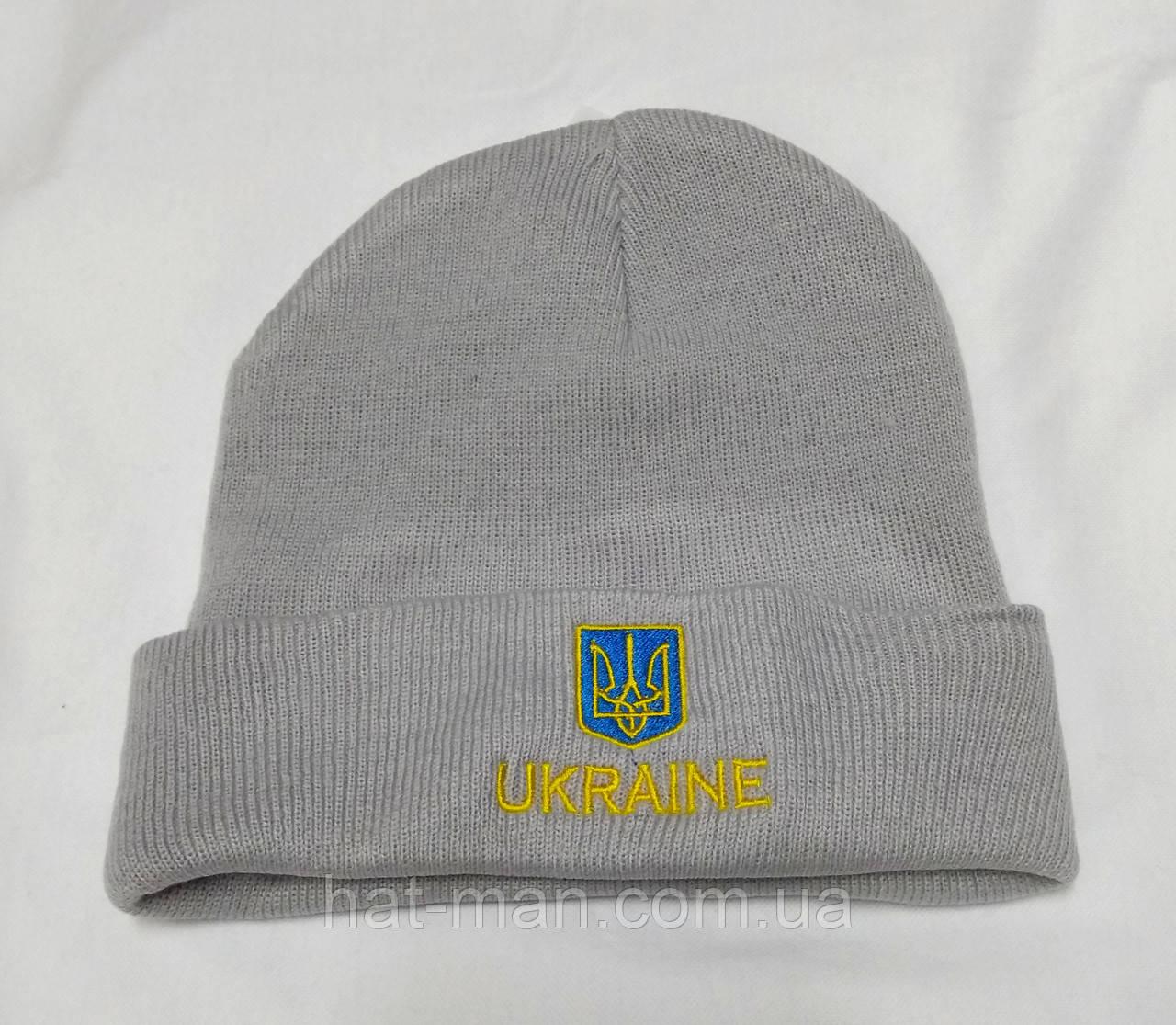 """Шапка Ukraine"", сіра"