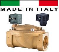 """Электромагн. клапан CEME (Италия) 8620, НЗ, 2 1/2"""", 90 C, 220В нормально закрытый для воды, воздуха."""