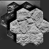 """Форма для камня """"Мозаика"""" 0,2м² из гипса/бетона; декоративных панелей под исскусственный камень"""