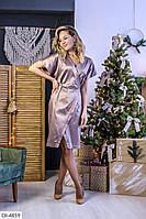 Красивое атласное платье, фото 1