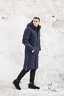 Мужская куртка-пальто зимняя 'Champion' (синяя), фото 1