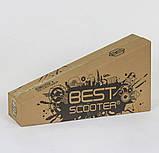 """Самокат А 25594 /779-1337 MAXI """"Best Scooter"""" пластмассовый, 4 колеса PU,свет,трубка руля алюминиевая, d=12 см, фото 4"""