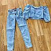 Жіночий джинсовий костюм ZEO BASIC 4406-1 топ+джинси (42-48), фото 2