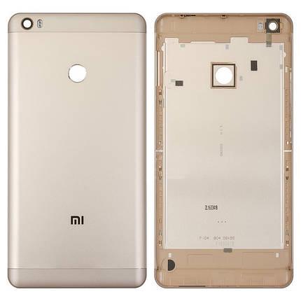 Задняя крышка Xiaomi Mi Max золотистая, фото 2