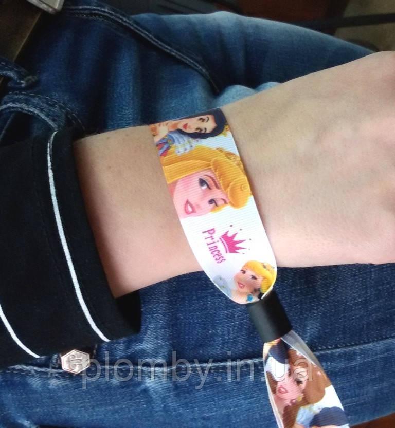 Тканевые контрольные браслеты  на руку Сатин, ширина 20 мм
