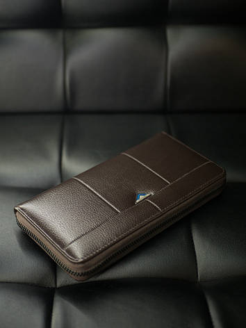 Гаманець портмоне Гінтонг чорний коричневий, фото 2