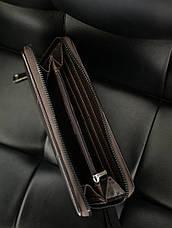 Гаманець портмоне Гінтонг чорний коричневий, фото 3