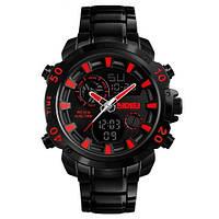 Наручные спортивные часы Skmei 1306 стальные черно-красные