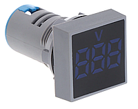 Вольтметр AC 22мм 12-500В - синий, фото 1