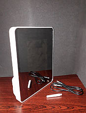 Зеркало-фоторамка настольное белое Magic photo mirror, фото 2
