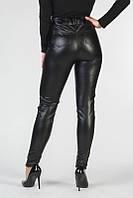 Женские кожаные лосины с высокой талиейи карманами VS 1047