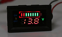 Автомобільний вольтметр/тестер індикатор ємності, фото 1