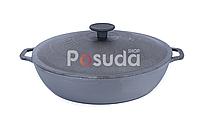 Сковорода чугунная жаровня Биол с чугунной крышкой 28 см 03283, фото 1