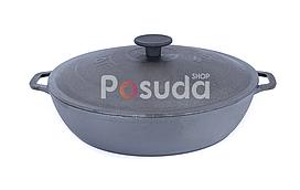 Сковорода чавунна жаровня Біол з чавунною кришкою 28 см 03283