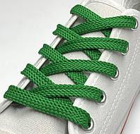 Шнурки простые плоские трава 100см (Ширина 7 мм), фото 1