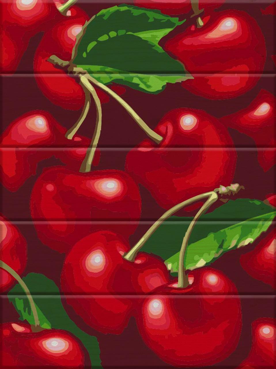 Художественный творческий набор, картина по номерам на дереве Черешня, 30x40 см, «Art Story» (ASW073)