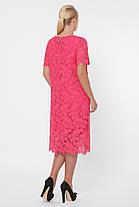 Нарядное женское кружевное платье кораллового цвета с 52 по 58 размер, фото 2