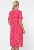 Нарядное женское кружевное платье кораллового цвета с 52 по 58 размер, фото 3