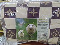 Одеяло из овечьей шерсти 1.5 бязь, фото 1