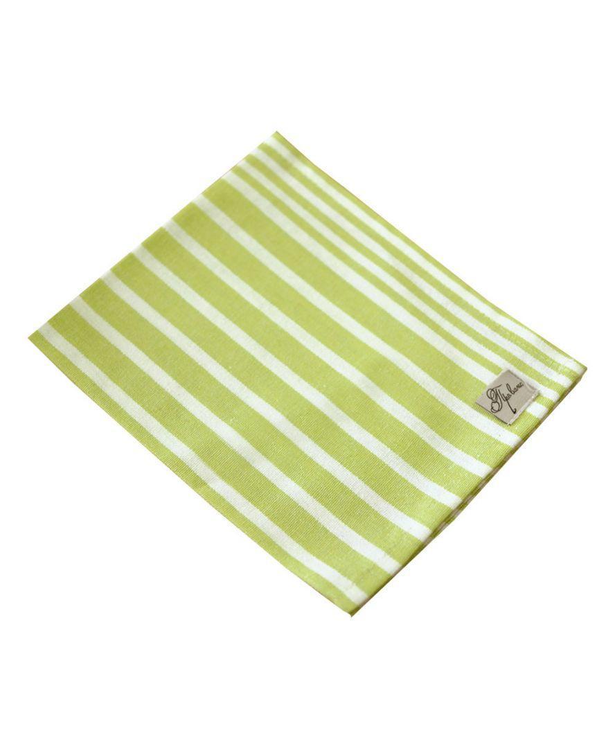 Салфетка на стол Кантри зеленая полоска