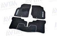 Ковры салона для Nissan Almera Classic B10 2006- черные, 5шт ворсовые