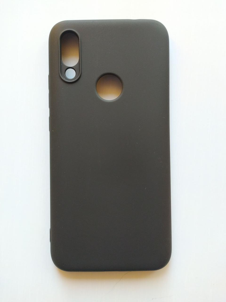 Силиконовый чехол Xiaomi Redmi 7 с микрофиброй Liquid Silicon Case