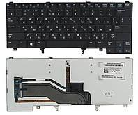 Клавиатура Dell Latitude E6440 черная подсветка Fingerpoint (0YFHJW)