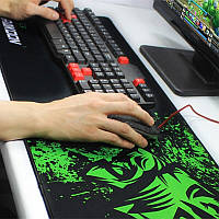 БОЛЬШОЙ геймерский коврик для мышки  и клавиатуры RAZER R-900 (90х40см)