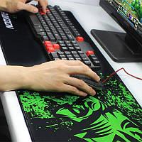 Большой игровой коврик для мыши  и клавиатуры Игровая поверхность RAZER R-900 900х400мм, фото 1