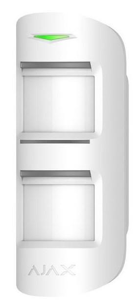 Беспроводной уличный датчик движения Ajax MotionProtect Outdoor, Jeweller, CR123A x 2 шт, белый