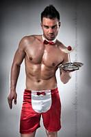 Мужской эротический костюм 019 SHORT red - Passion S/M