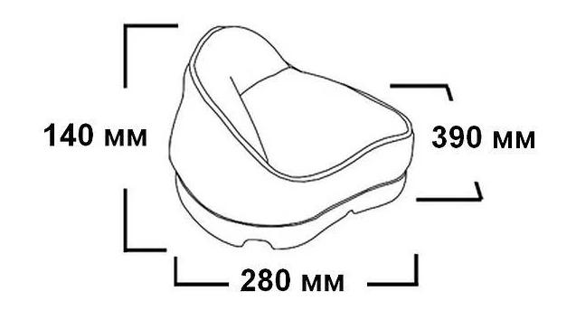 Трехугольное сиденье на стойку в лодку, фото 2