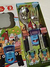 Детский набор столовых приборов на подарок с именной гравировкой, фото 3