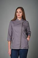 Женская однотонная куртка-китель для повара, фото 3