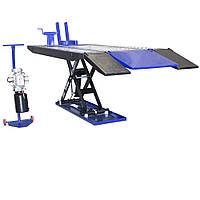 Ножничный электрогидравлический мотоцыклетный подъёмник для подъема, обслуживания и ремонта, мототехники.