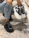 Черные женские кроссовки Prada Chunky с рефлективом, фото 9