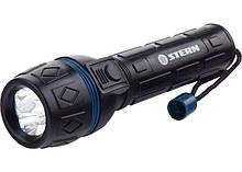 Ліхтарик світлодіодний, ударостійкий корпус, вологозахищений, 3 надяскравих світлодіода, 2хАА, Stern