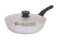 Сковорода с крышкой и ровным дном Биол 26 см А263, фото 1