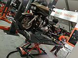 Ножничный электрогидравлический мотоцыклетный подъёмник для подъема, обслуживания и ремонта, мототехники., фото 6